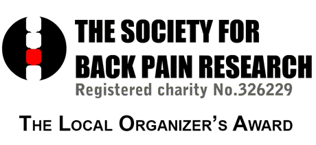 """""""Local Organiser's Award"""" at the Society for Back Pain Research (UK)"""
