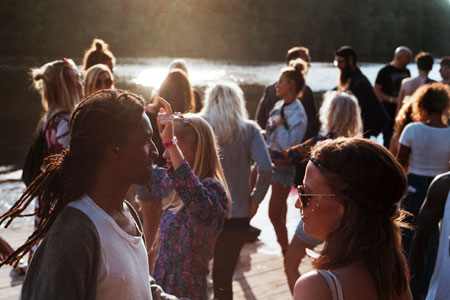 Young people in leisure time