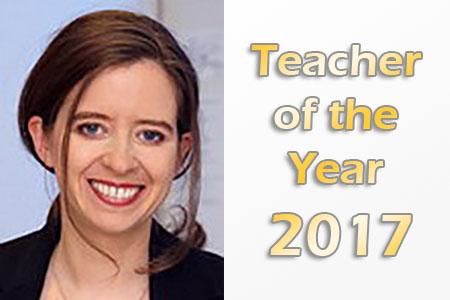 Julia Bohlius Teacher of the Year