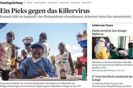 Ebola article SonntagsZeitung screenshot
