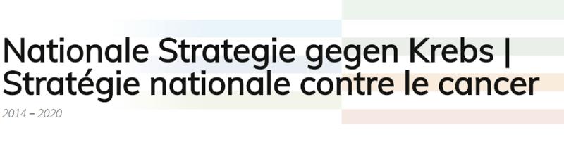 Logo Nationale Strategie gegen Krebs