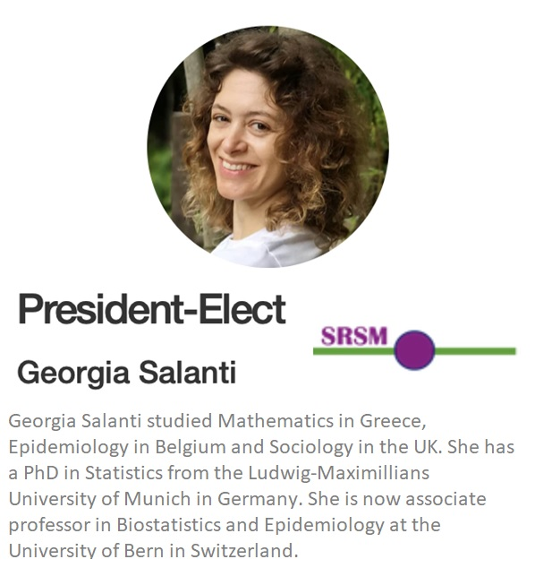 Georgia Salanti was elected president of the Society for Research Synthesis Methodology.