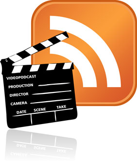 Video podcast logo