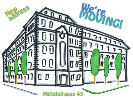 Drawing of building of Mittelstrasse 43