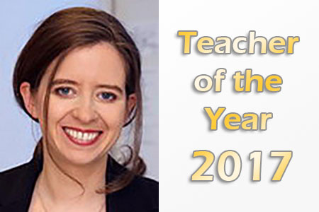 Julia Bohlius Teacher of the Year