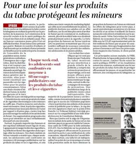 Screenshot of article in le temps